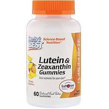 """Лютеин и зеаксантин Doctor's Best """"Lutein & Zeaxanthin Gummies"""" со вкусом манго (60 жевательных таблеток)"""