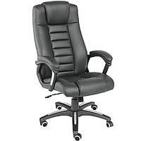 Черное офисное кресло из искусственной кожи