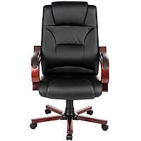Офисное кресло Boss с деревянными подлокотниками, фото 1