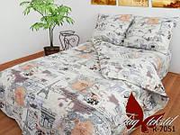 ✅ Двуспальный комплект постельного белья (Ранфорс) TAG R7051