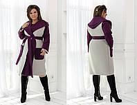 """Женское пальто с жилеткой больших размеров """" Пальто + жилетка """" Dress Code"""
