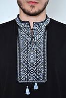 Вышиванка мужская трикотажная с традиционным орнаментом