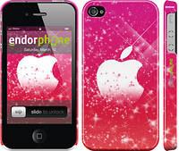 "Чехол на iPhone 4 pink apple ""1620c-15"""