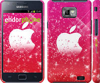 "Чехол на Samsung Galaxy S2 Plus i9105 pink apple ""1620c-71"""