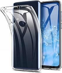Прозрачный Чехол Motorola One Action (ультратонкий силиконовый) (Моторола Оне Актион)