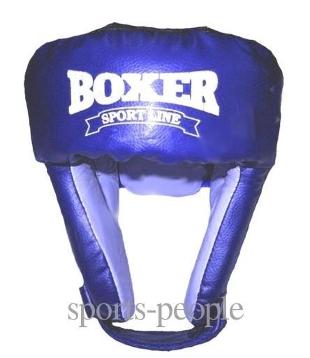 Шолом боксерський/для боксу BOXER, зверху шнурівка, вініл, різном. кольори, L