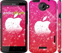 "Чехол на HTC One X+ pink apple ""1620c-69"""