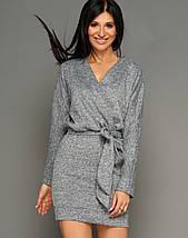 Женское короткое меланжевое платье из ангоры (Эльзаjd), фото 2