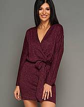 Женское короткое меланжевое платье из ангоры (Эльзаjd), фото 3