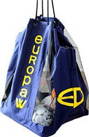 Сумка-рюкзак для мячей  Europaw (до 12 мячей) синяя