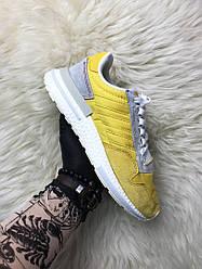 Мужские кроссовки Adidas ZX 500 Bold Gold (желтые)