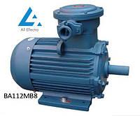 Вибухозахищений електродвигун ВА112МВ8 3кВт 750об/хв