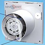 Вентилятор хромированный ВЕНТС 100 Квайт хром (VENTS 100 Quiet chrome), фото 3