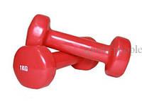 Гантели для фитнеса виниловые 2 шт., по 1 кг., фото 1
