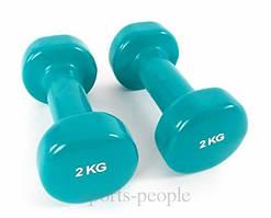 Гантели для фитнеса виниловые 2 шт., по 2 кг.