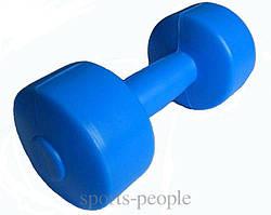 Гантели пластмассовые, наполняемые, с клапаном, 2 шт., по 1 кг.