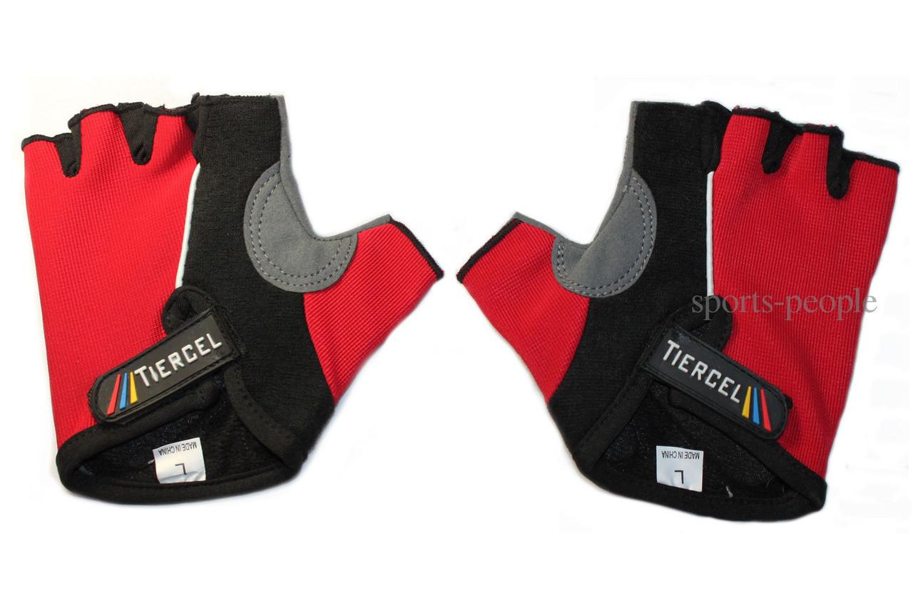 Перчатки спортивные б/п Tiercel, размеры S, M, L, XL, разн. цвета.