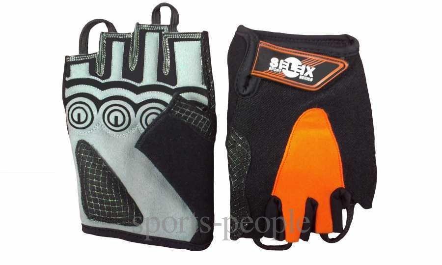 Перчатки спортивные б/п Selex Spyder, кожа, размеры: S, M, L, XL, разн. цвета.