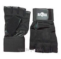 Перчатки для фитнеса, велосипеда, тяжелой атлетики, Selex Cody, кожа, длинный фиксатор, размеры: S, M, L, XL