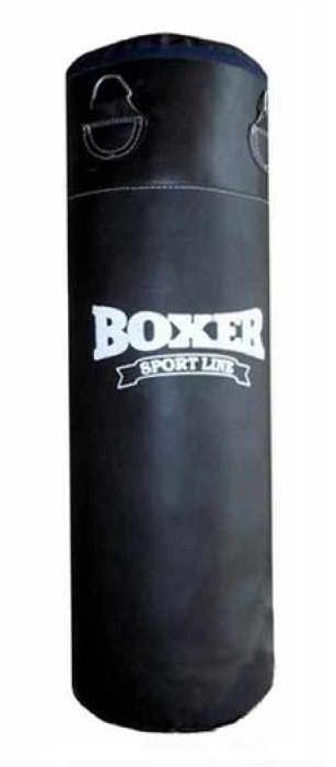 Мешок боксерский/груша для бокса BOXER, кожа, 1,2*0,33 м