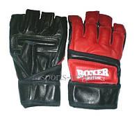 Перчатки Boxer, для каратэ, мма, размеры: M, L, XL, кожа.