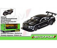 "Машина метал. 68353B (7953)  ""АВТОПРОМ"",1:32 Bentley  Continental GT3, свет,звук,в коробке 1(68353B)"