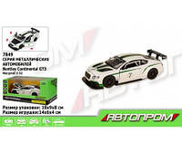 "Машина метал. 7849 (68353) ""АВТОПРОМ"",1:32 Bentley  Continental GT3 свет,звук,в коробке 18*(Маш 7849)"