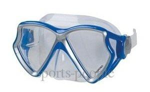 Маска для плавания Intex 55980, двухлинзовая, закаленное стекло,  разн. цвета.