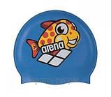 Шапочка для плавания ARENA Multi Jr детская, силикон, разн. цвета, фото 3