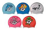 Шапочка для плавания ARENA Multi Jr детская, силикон, разн. цвета, фото 4