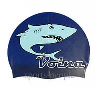 Шапочка для плавання Volna Shark, силікон, різном. кольори, фото 1