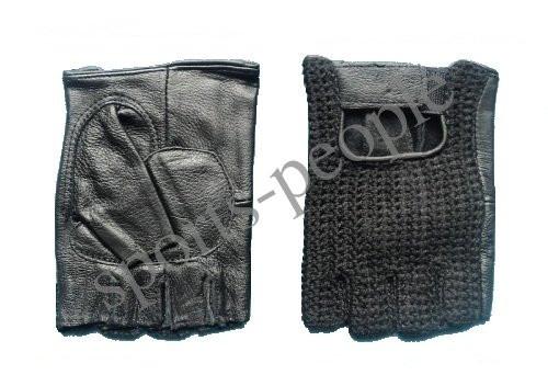 Перчатки для фитнеса, велосипеда, тяжелой атлетики, Вязка, кожзам+сетчат. материал, размеры: М, L, XL