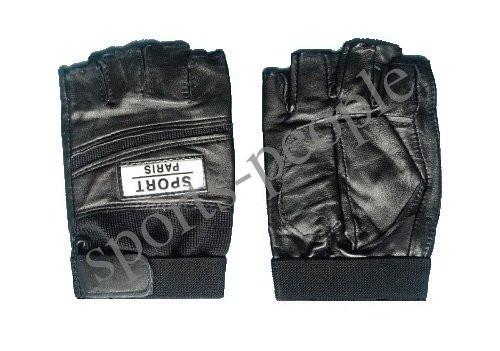 Перчатки спортивные б/п Sport Paris, кожзам, размеры: М, L, ХL