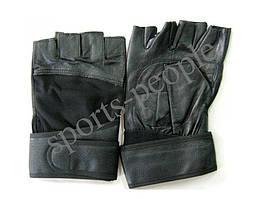 Перчатки для фитнеса, велосипеда, тяжелой атлетики, Атлет, кожзам, размеры: XL