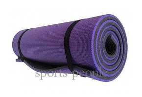 Коврик (каремат) для туризма и фитнеса, двухслойный, 1800*600*12 мм, разн. цвета