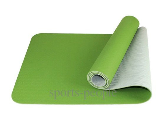 Килимок для йоги/фітнесу: 6 мм, технологія TPE, одношаровий, різном. кольори.