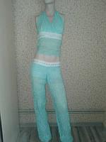 Костюм брючный. комплект: штаны+топ s