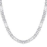 Серебряная цепочка ЕВРО ВЕРСАЧЕ родированная 45 см, фото 1