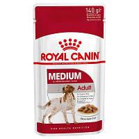 Royal Canin (Роял Канин) Adult Medium консервы в соусе для собак средних пород, 12 шт