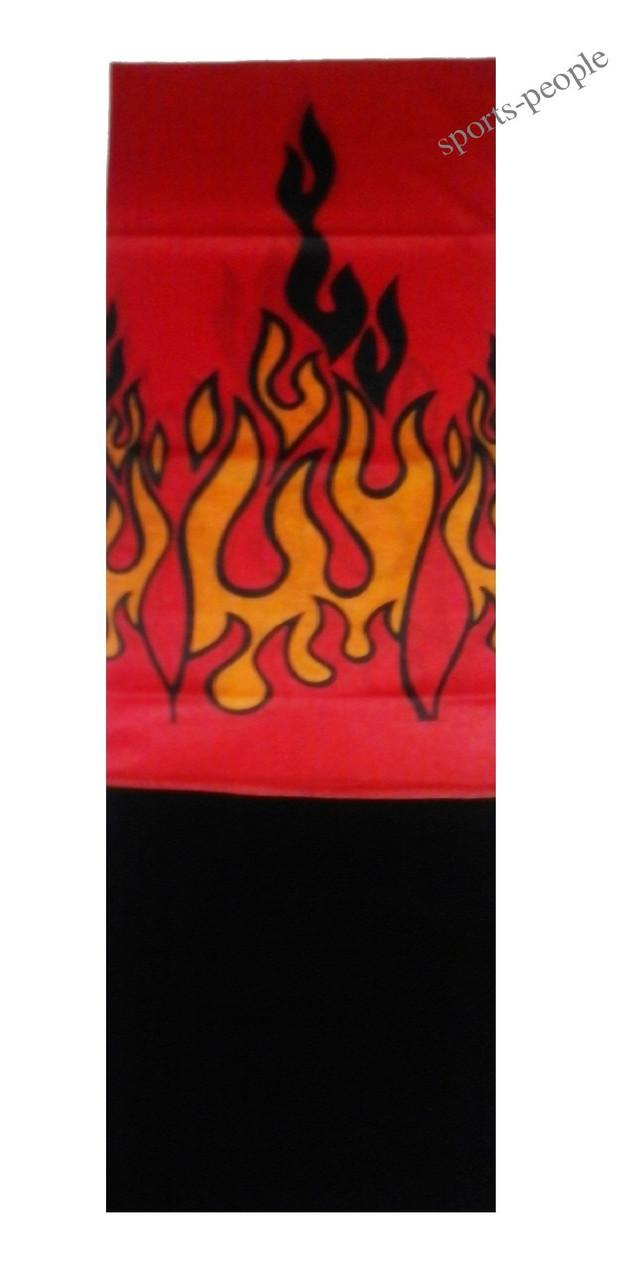 Бафф (Buff)/бандана, с флисом, языки пламени (красный фон).