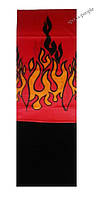 Бафф (Buff)/бандана, с флисом, языки пламени (красный фон)., фото 1