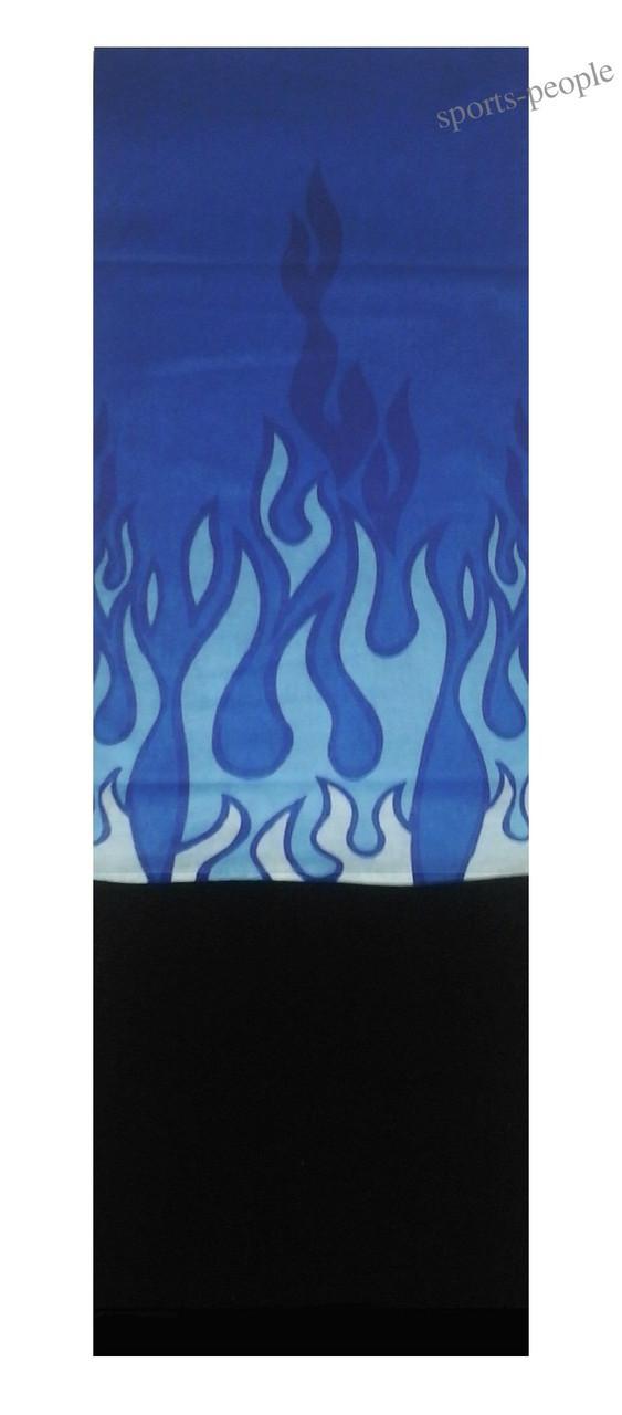 Бафф (Buff)/бандана, с флисом, языки пламени (синий фон).