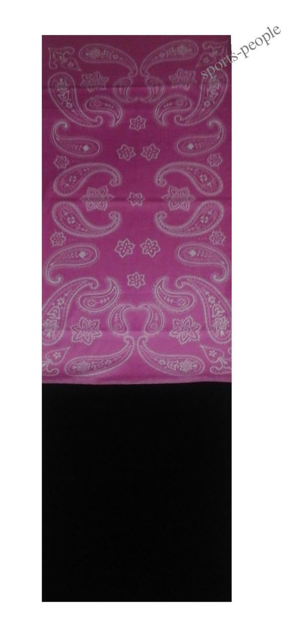 Бафф (Buff)/бандана, с флисом, абстракция (розовый фон).