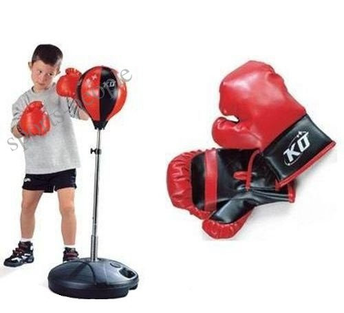 Набор боксерский чемпион, MS 1073 (высота 90-130): груша+перчатки+насос.