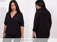 Женская блузка свободного кроя PY/-016 - Черный