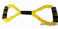 Эспандер-восьмерка, женский, в тканевой обшивке, сильной жесткости., фото 1