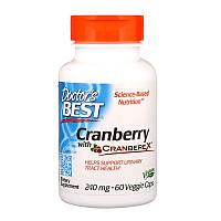 """Клюква Doctor's Best """"Cranberry with Cranberex"""" 240 мг, здоровье мочевыводящих путей (60 капсул)"""