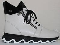 Ботинки белые женские зимние большого размера от производителя модель МИ5306-5