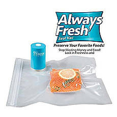 Вакуумный упаковщик для еды Vacuum Sealer Always Fresh, вакуумные пакеты для еды, фото 3