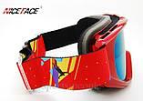 Маска горнолыжная NICE FACE 9054, красный цвет., фото 3